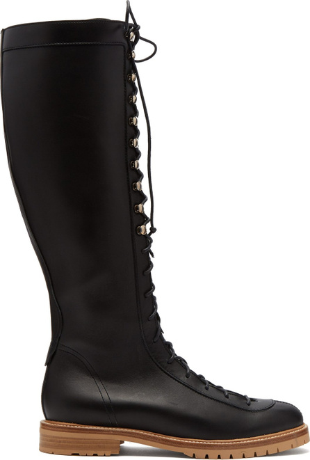Gabriela Hearst Juan lace-up knee-high leather boot