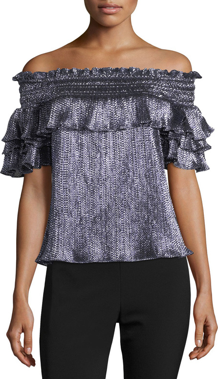 0c5affa4537b09 Parker. Greta Off-the-Shoulder Metallic Blouse
