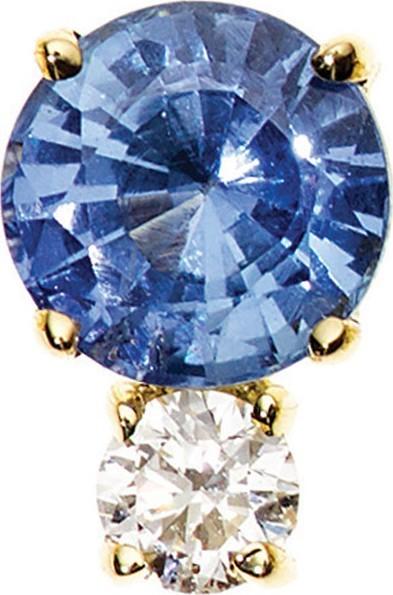Jemma Wynne Prive Ceylon Blue Sapphire & Diamond Single Stud Earring