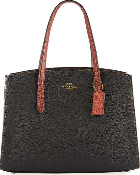COACH 1941 Charlie Colorblock Exotic Carryall Tote Bag