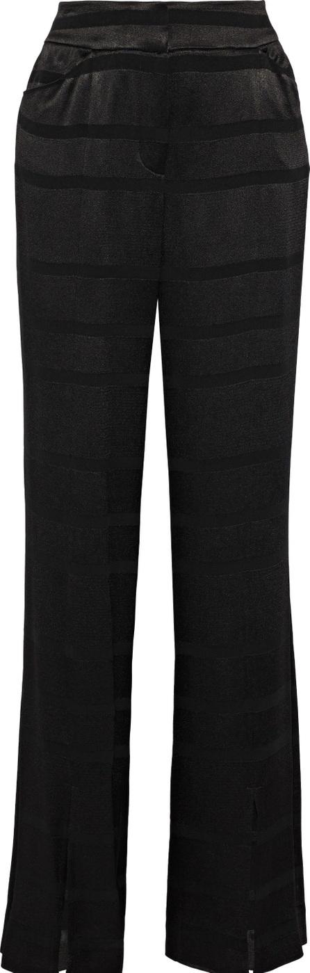 HALSTON HERITAGE Satin-jacquard wide-leg pants