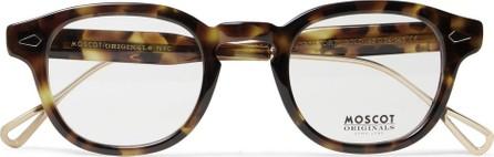 Moscot Lemtosh Round-Frame Tortoiseshell Acetate and Gold-Tone Optical Glasses