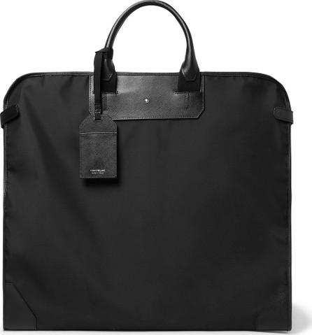 Montblanc Sartorial Cross-Grain Leather-Trimmed Shell Garment Bag