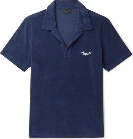 Ermenegildo Zegna Logo-Embroidered Cotton-Terry Polo Shirt