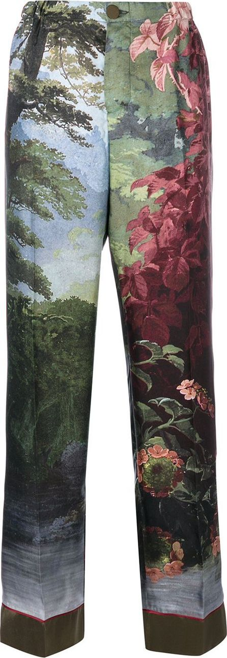 F.R.S For Restless Sleepers landscape print trousers