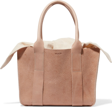 Muun Gilbert mini textured-leather and canvas tote