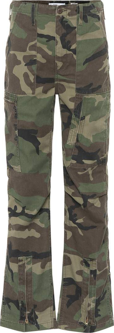 RE/DONE Camouflage cotton-blend pants