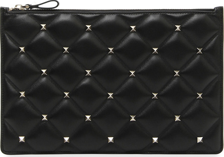 Valentino Candystud Large Flat Pouch Clutch Bag