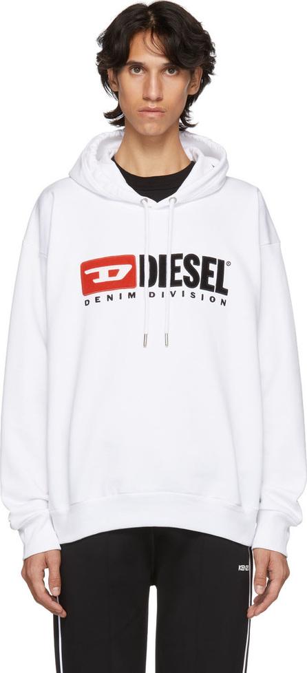 Diesel White S-Division Logo Hoodie