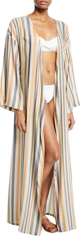 Onia Meika Striped Coverup Robe