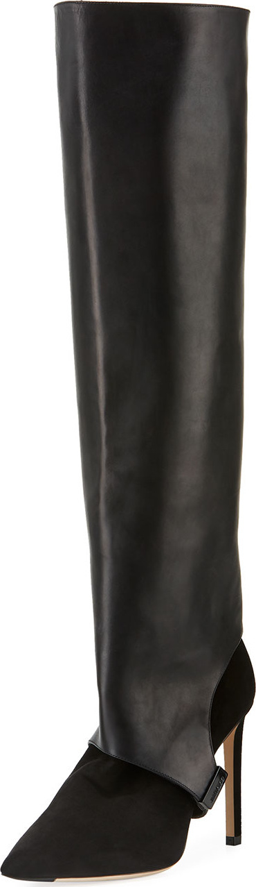 Jimmy Choo Hurley Convertible Leather/Suede Knee Boots/Booties