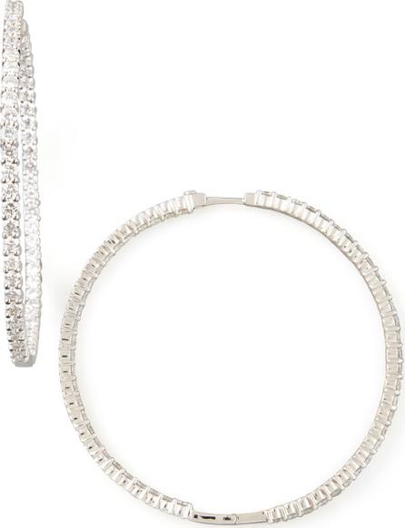 Roberto Coin 59mm White Gold Diamond Hoop Earrings, 7.55ct