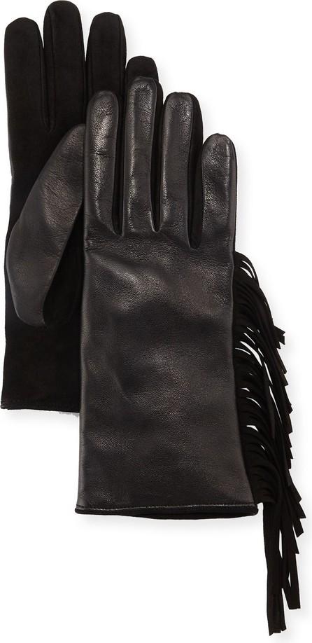 Guanti Giglio Fiorentino Leather & Suede Fringe Gloves