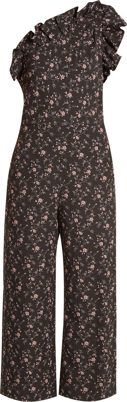 Rebecca Taylor One-shoulder floral-jacquard jumpsuit