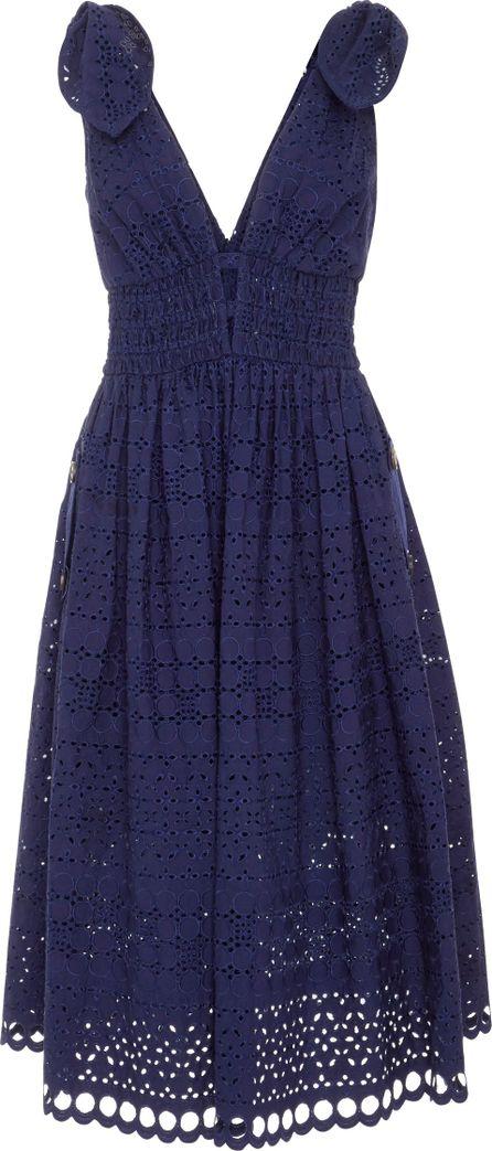 Self Portrait Broderie Anglaise Cotton Dress