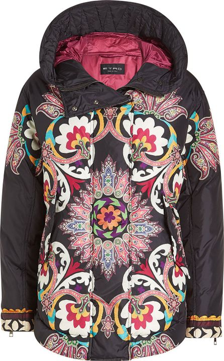 Etro Printed Down Jacket with Hood