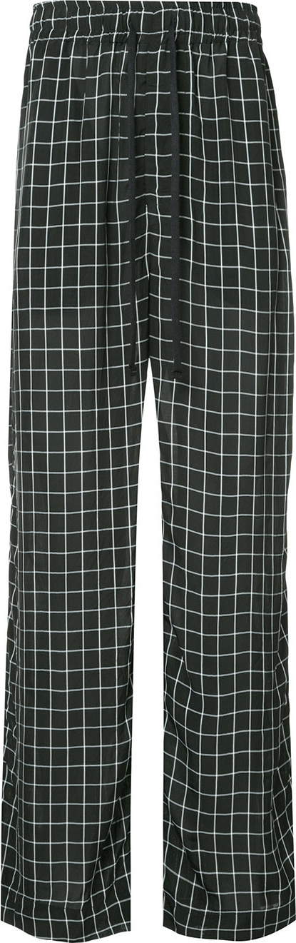 Ex Infinitas Off The Grid checked drawstring trousers