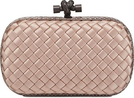 1030d148a3e Bottega Veneta Satin-Snakeskin Stretch Knot Minaudiere Bag in Grey - Mkt