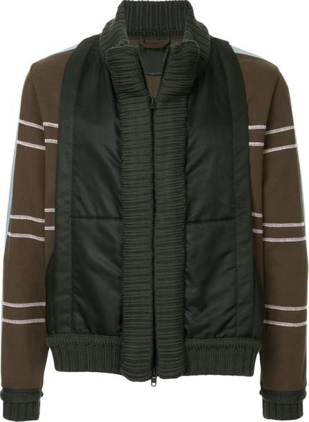 Craig Green Striped sleeves panelled jacket