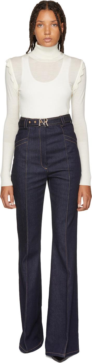Nina Ricci Blue Flared Jeans