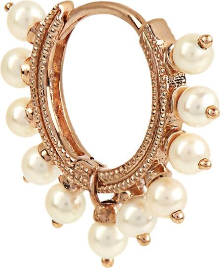 Maria Tash Pearl & rose-gold earring