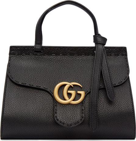 Gucci Black Mini GG Marmont Top Handle Bag