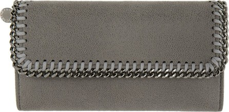 Stella McCartney Grey Falabella Flap Wallet