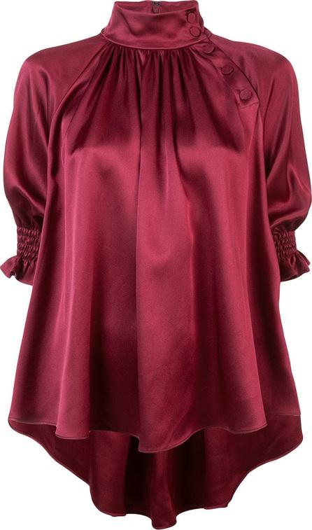 Adam Lippes Metallic effect asymmetric blouse