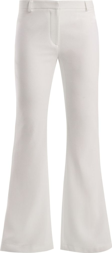 Goat Countess kick-flare wool-crepe trousers