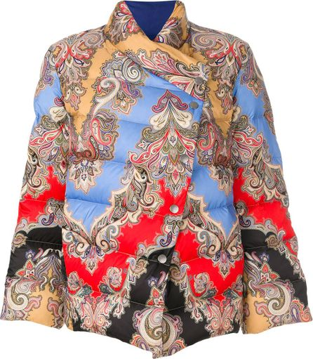 Etro asymmetric padded jacket