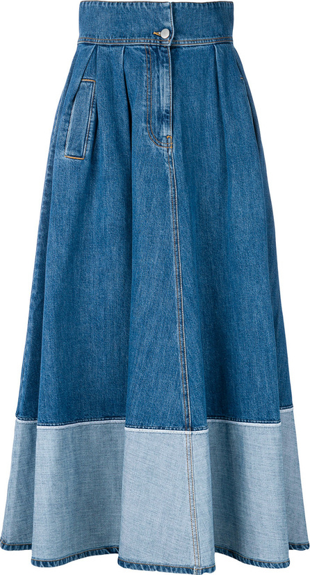 Andrea Ya'aqov Two-tone denim skirt