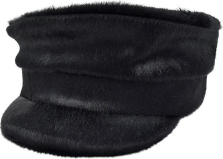 Gigi Burris Georgie Cowhide Newsboy Hat
