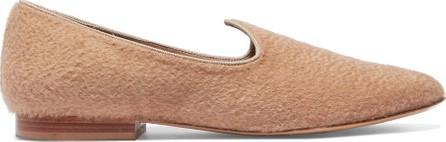 Giuliva Heritage Collection + Le Monde Beryl grosgrain-trimmed felt slippers