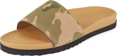Buscemi Camouflage-Print Suede Slide Sandal