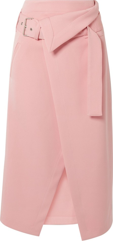 3.1 Phillip Lim Belted asymmetric twill wrap skirt