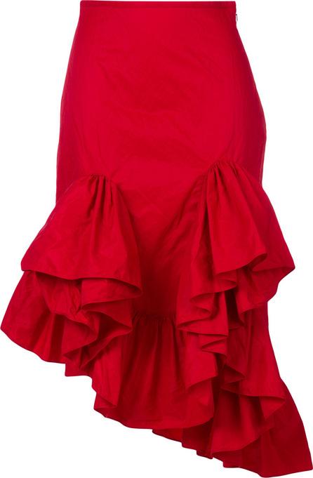 Marques'Almeida Asymmetric flounce skirt