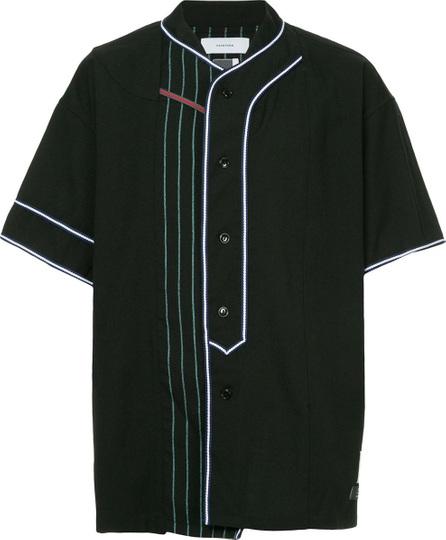 FACETASM Facetasm x Woolmark panelled baseball shirt