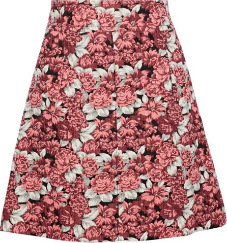 Sandro Daniela floral-jacquard mini skirt