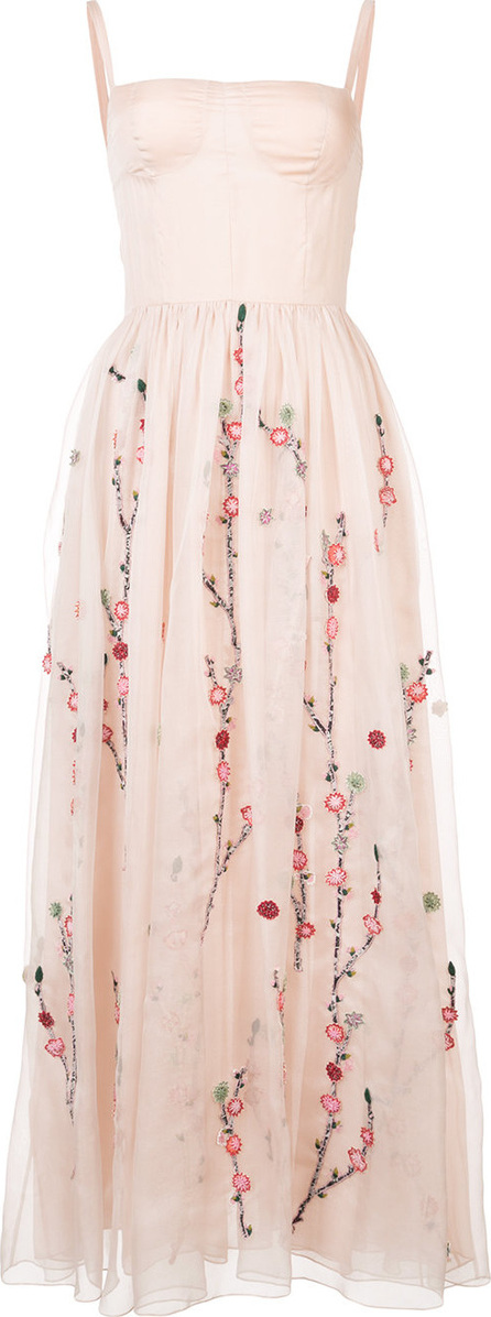 Adam Lippes Floral embroidery sheer dress