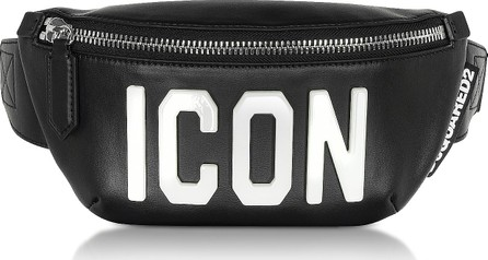 DSQUARED2 Black Leather and Plexy Women's Belt Bag