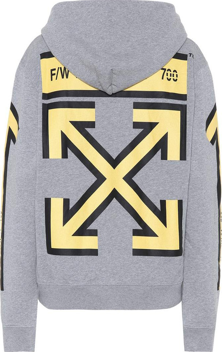 Off White Printed cotton jersey hoodie