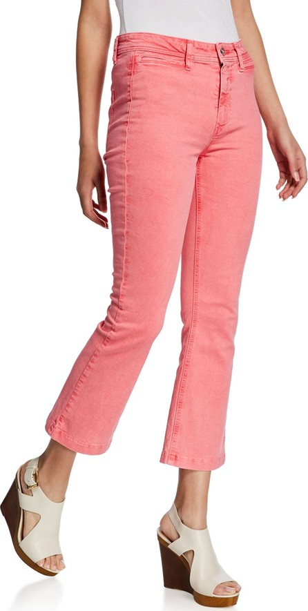 PAIGE Colette High-Rise Flare Jeans w/ Faux Welt Pockets