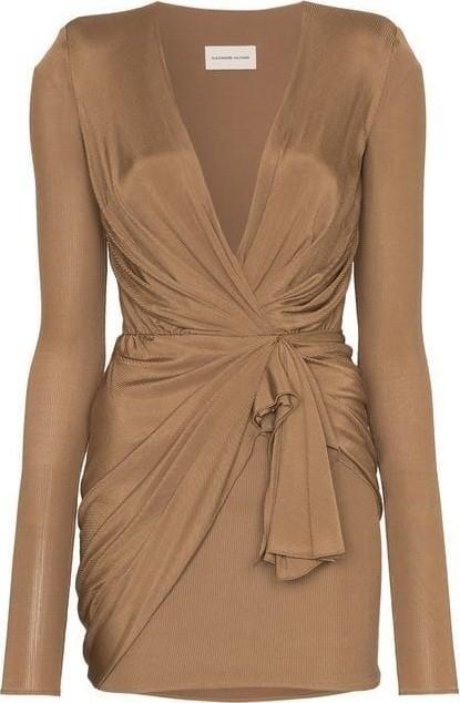 Alexandre Vauthier wrap mini dress