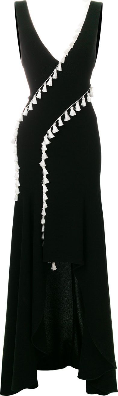 Galvan slit tassel dress
