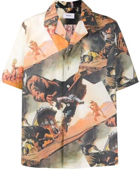 RHUDE Gunslinger-print Hawaiian shirt