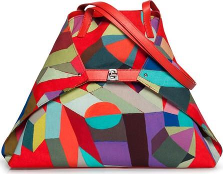 Akris Ai Medium Painted Colorblock Shoulder Bag