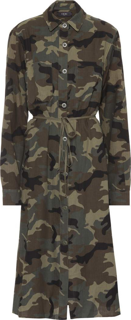 Amiri Camouflage cotton-blend shirt dress