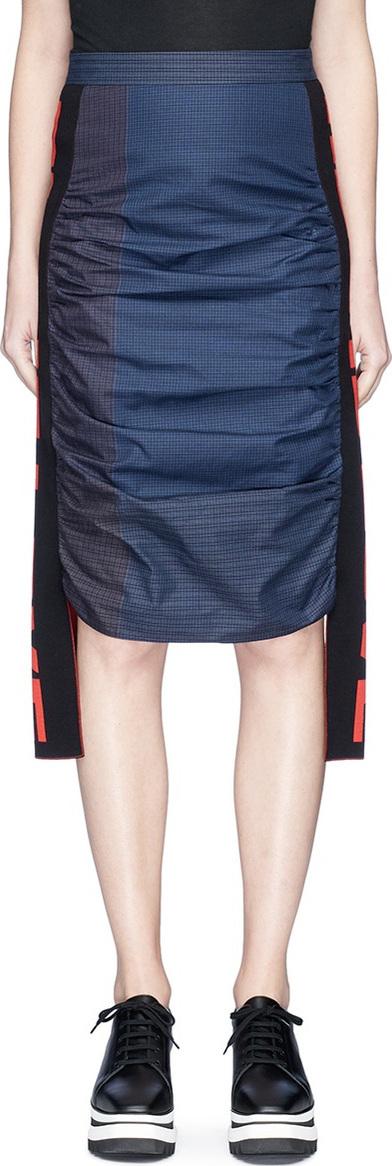 Stella McCartney 'Amica' slogan sash check midi skirt