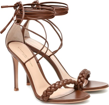 Gianvito Rossi Leomi 105 braided leather sandals