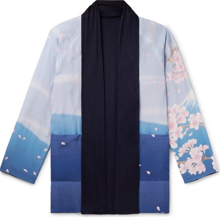 Blue Blue Japan Reversible Printed Crepe de Chine and Jersey Jacket